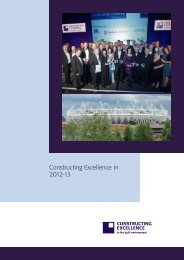 Constructing Excellence in 2012-13