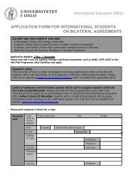 application form for international students on bilateral agreements
