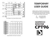 SIGNEX CPT96 Isopatch series user manual - Canford Audio