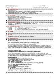 1 BUSINESS FRAUEN LIVE Jänner 2008 Netzwerk News Business ...