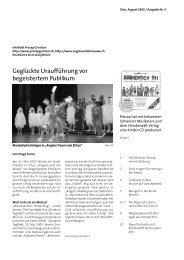 Geglückte Uraufführung vor begeistertem Publikum - Procap Grischun