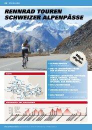 rennrad touren Schweizer alPenPÄSSe - Swiss Trails