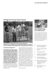 Erfolg für Procap Sport Davos - Procap Grischun