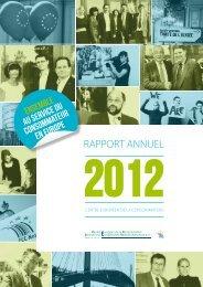 Rapport annuel 2012 - Centre Européen de la Consommation