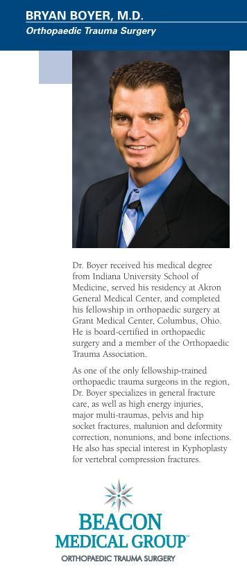 BRYAN BOYER, M.D. - Memorial Medical Group