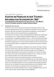 karten im februar in der tourist - Schweinfurt 360