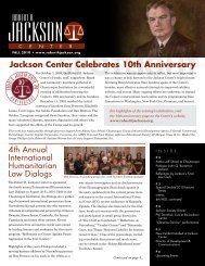 Fall 2010 - Robert H. Jackson Center