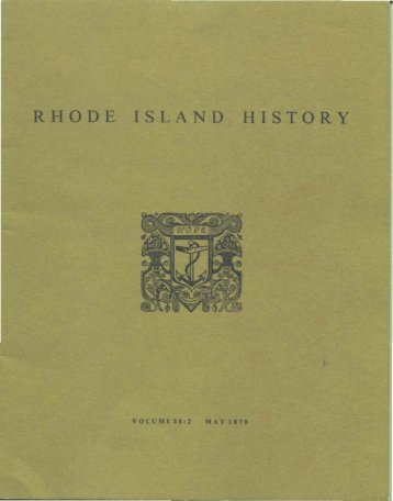 RHODE ISLAND HISTORY - Rhode Island Historical Society