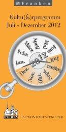 kultu(H)rprogramm 2012 - Iphofen