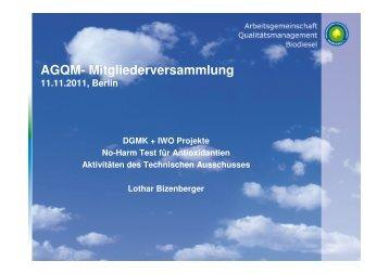 Mitwirkung in den DGMK- und IWO- Projekten (Heizöl)