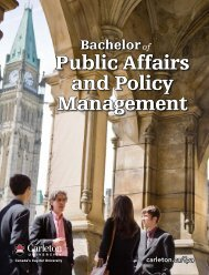 Public Affairs and Policy Management - Carleton University