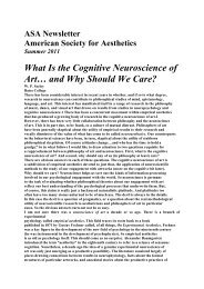 What Is the Cognitive Neuroscience of Art… and Why Should We ...