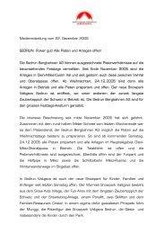 Medienmitteilung vom 22. Dezember 2005 SEDRUN: Pulver gut ...