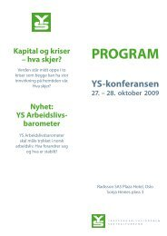Program YS-konferansen 27. - 28. oktober 2009 - Safe