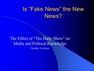 Heather Avenson, The Daily Show and Political Knowledge