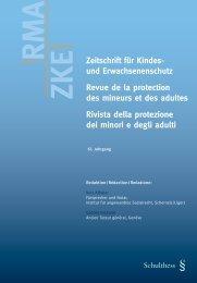 Zeitschrift für Kindes- und Erwachsenenschutz Revue de la ... - Kokes