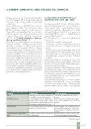 2. benefici ambientali nell'utilizzo del compost - Veneto Agricoltura