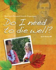 Sharing A Personal Growth Experience - Dying Well