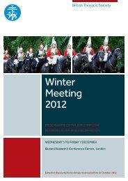 Winter Meeting 2012 - Brit Thoracic