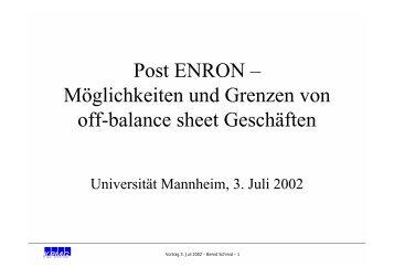 WP Bernd U. Schmid - wuestemann - Universität Mannheim