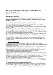 Bilingualer Unterricht in der gymnasialen Oberstufe (BASS 13-32 Nr ...