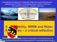 Sustainability, IWRM and Water Resources – a critical reflection