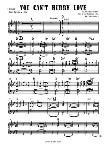 You can't hurry love - bigband - Piano.pdf