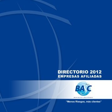 DIRECTORIO 2012 - BASC COLOMBIA