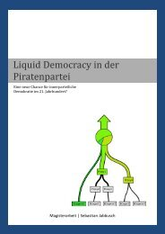 Liquid Democracy in der Piratenpartei - Sebastian Jabbusch