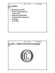 Outline OCL – Object Constraint Language