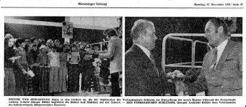 Zeitungsartikel vom 27.11.1976 zur Einweihung des 3. Bauabschnitts