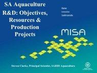 SA Aquaculture R&D: Objectives, Resources & Production ... - MISA