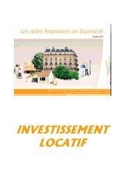 INVESTISSEMENT LOCATIF - Cellule Économique du Bâtiment et ...