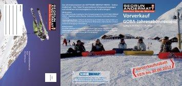 GOBA-Jahresabonnement 2012/13 - Gotthard Oberalp Arena
