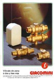 Válvulas de zona a 2 y 3 vías (1 MB) - Giacomini SpA