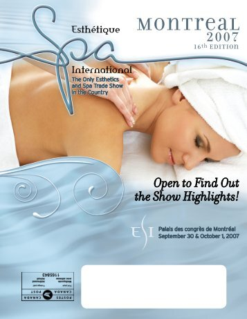 Montreal 2007 Program - Esthétique Spa International