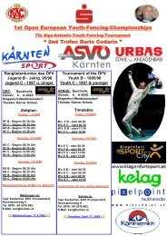 """1st Open European Youth-Fencing-Championships """" 2nd Trofeo ..."""