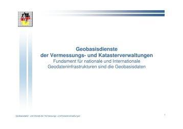 Geobasisdienste der Vermessungs- und Katasterverwaltungen