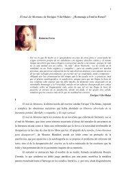 El mal de Montano de Enrique Vila-Matas - Revista Hispanista