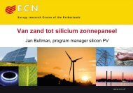 Jan Bultman, program manager silicon PV - Solar Technology