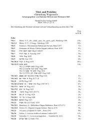 Titel- und Preisliste »sammlung Wagenseil«