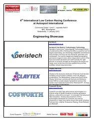 Engineering Showase List- Correct as at 5 January 2012