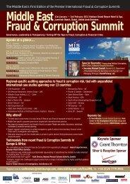 Middle East Fraud & Corruption Summit - MIS Training