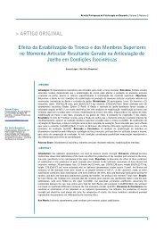 Efeito da Estabilização do Tronco e dos Membros Superiores ... - APF
