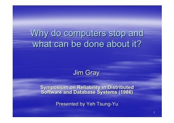 Why do computers stop and what can be done about it?