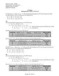 Bài tập giải sẵn về JFET - Khoa Điện Điện Tử