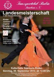 Landesmeisterschaft - TSC Rubin Saarlouis e.V.