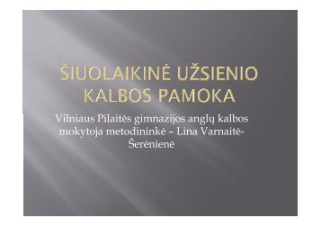 Šiuolaikinė užsienio kalbos pamoka - Vilniaus lietuvių namai