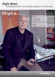"""KuNDeNzeitschrift """"DiGtA News"""" - Grundig Business Systems GmbH"""