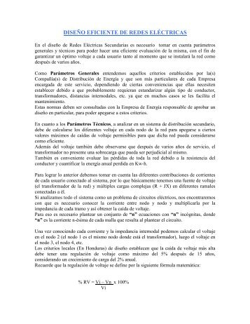 DISEÑO ÓPTIMO DE REDES ELÉCTRICAS SECUNDARIAS